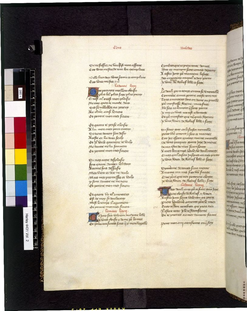 Text page from BL Harley 4431, f. 390v