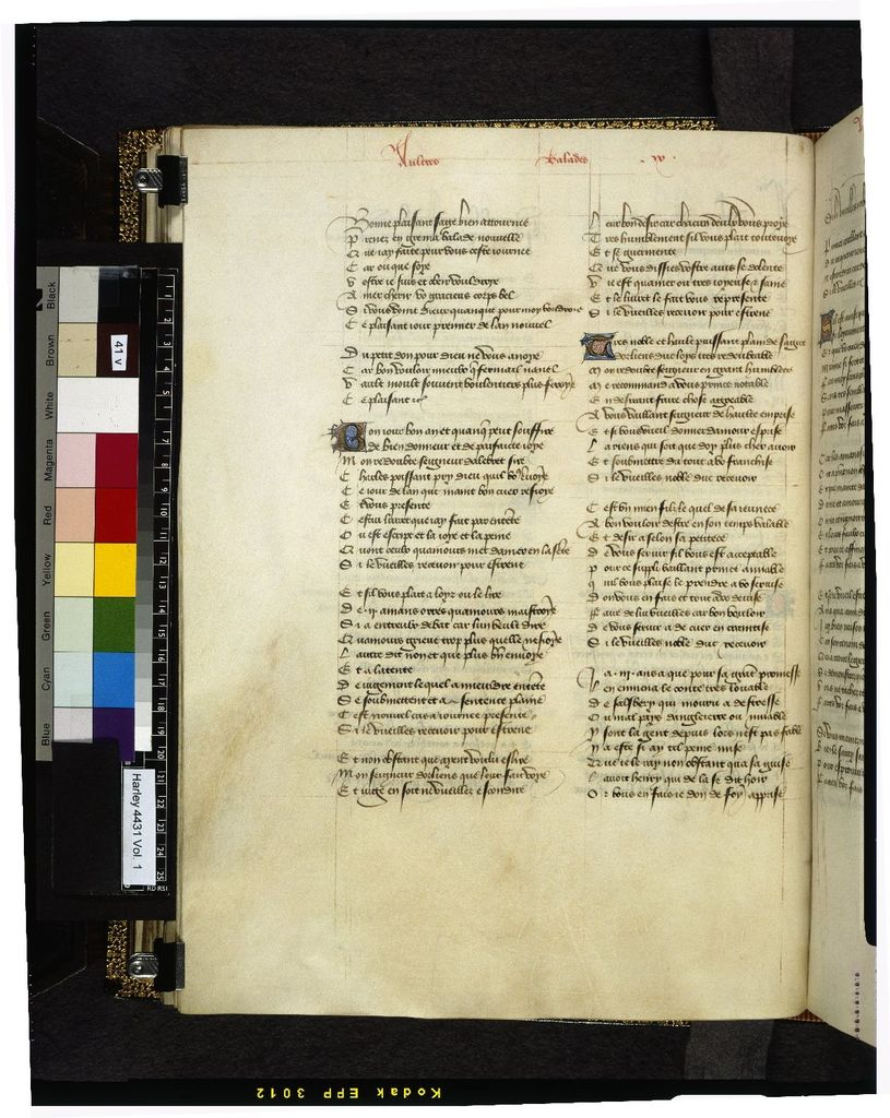 Text page from BL Harley 4431, f. 41v