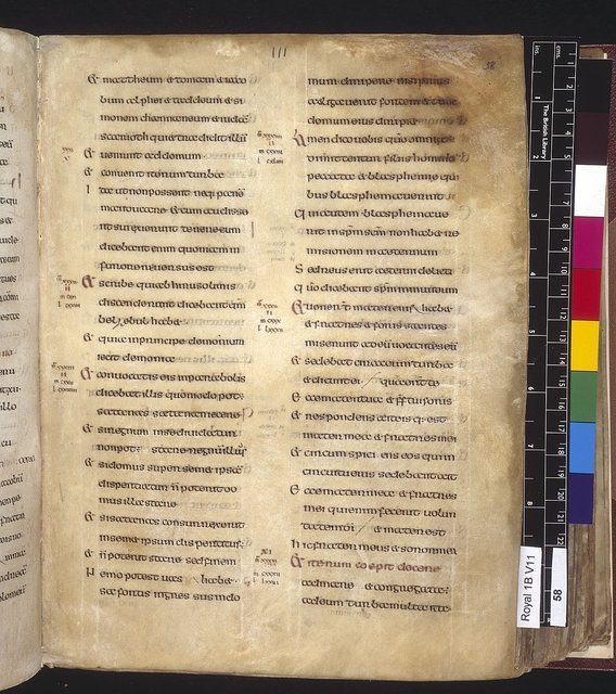 Text page from BL Royal 1 B VII, f. 58