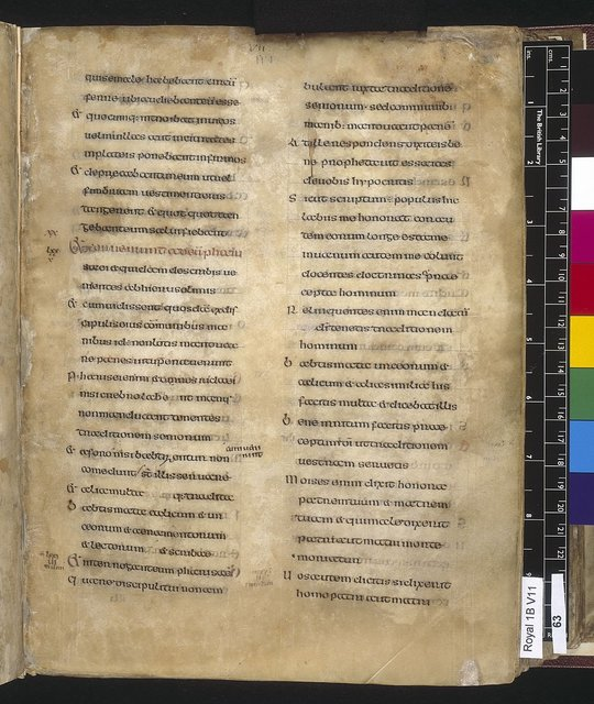 Text page from BL Royal 1 B VII, f. 63