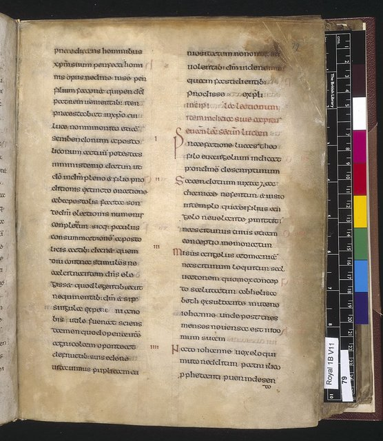 Text page from BL Royal 1 B VII, f. 79