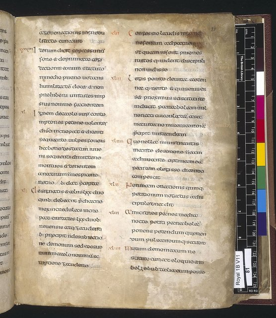 Text page from BL Royal 1 B VII, f. 81