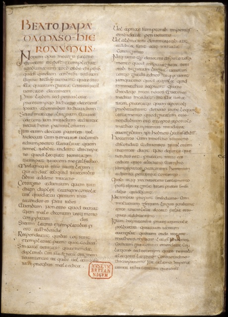 Text page from BL Royal 1 E VI, f. 2