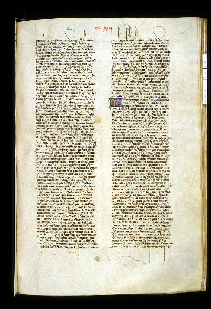Text page from BL Royal 15 E VI, f. 226