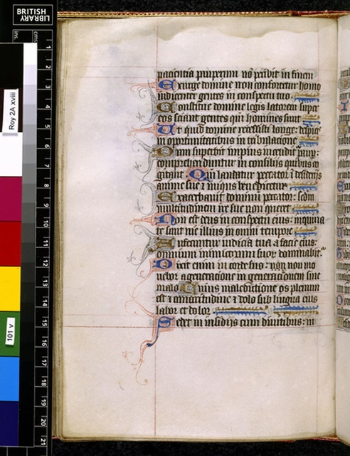 Text page from BL Royal 2 A XVIII, f. 101v