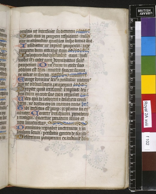 Text page from BL Royal 2 A XVIII, f. 102
