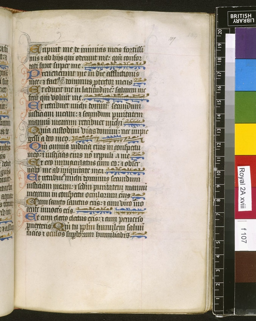 Text page from BL Royal 2 A XVIII, f. 107