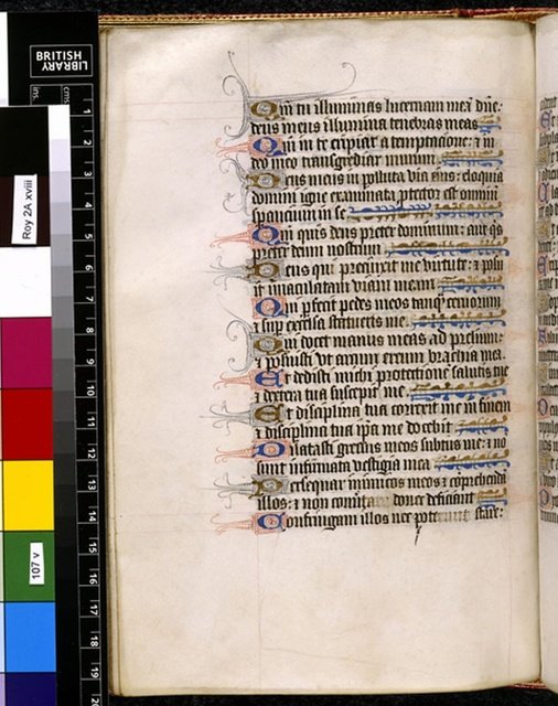 Text page from BL Royal 2 A XVIII, f. 107v