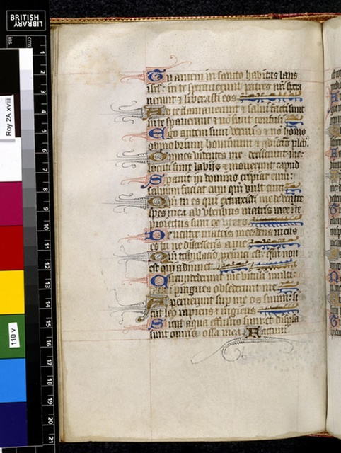 Text page from BL Royal 2 A XVIII, f. 110v