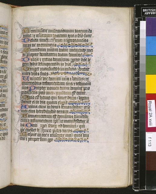 Text page from BL Royal 2 A XVIII, f. 113