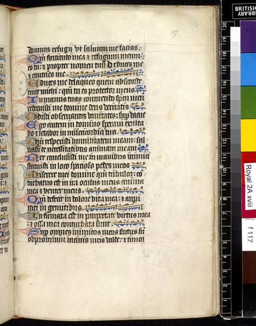 Text page from BL Royal 2 A XVIII, f. 117