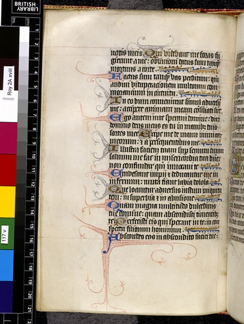 Text page from BL Royal 2 A XVIII, f. 117v