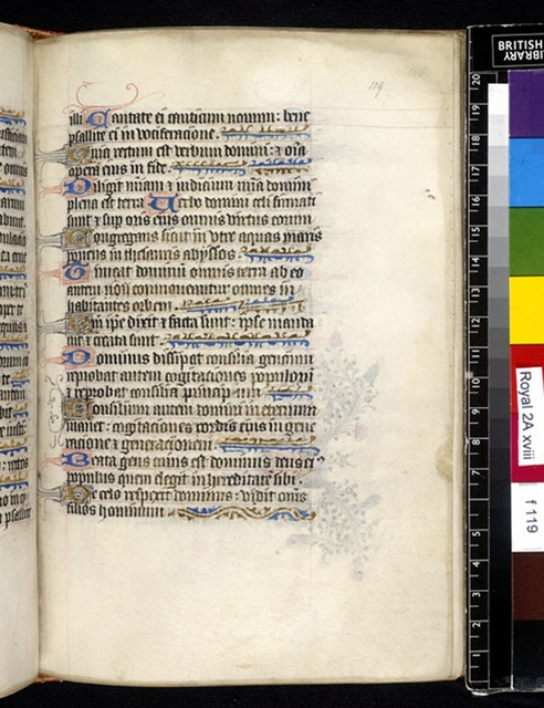 Text page from BL Royal 2 A XVIII, f. 119