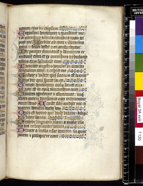 Text page from BL Royal 2 A XVIII, f. 120