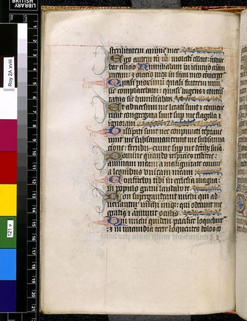 Text page from BL Royal 2 A XVIII, f. 121v