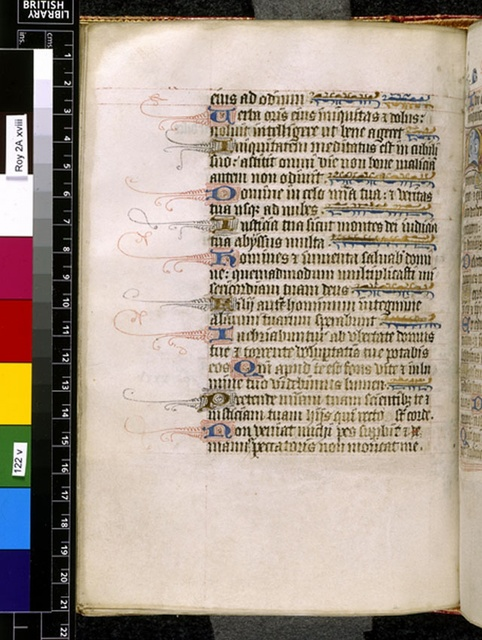 Text page from BL Royal 2 A XVIII, f. 122v