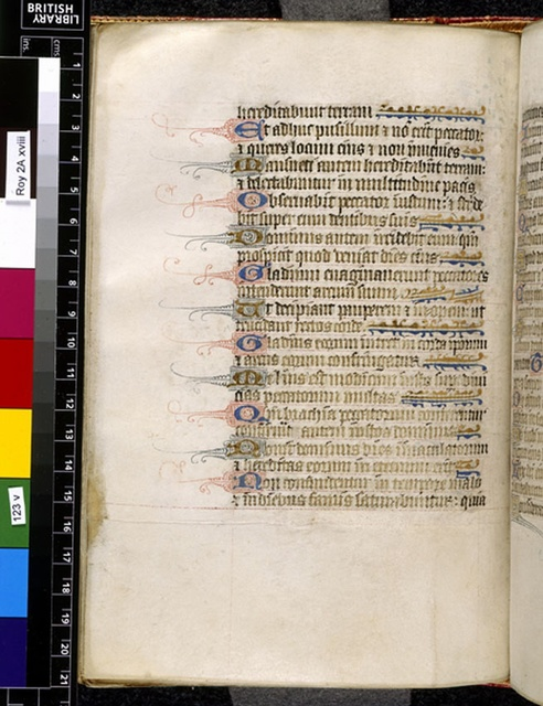 Text page from BL Royal 2 A XVIII, f. 123v