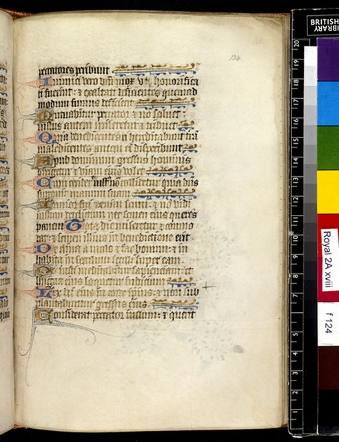 Text page from BL Royal 2 A XVIII, f. 124