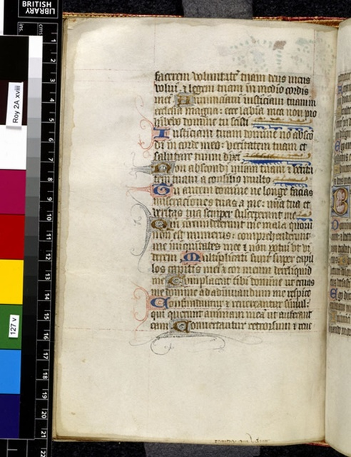 Text page from BL Royal 2 A XVIII, f. 127v