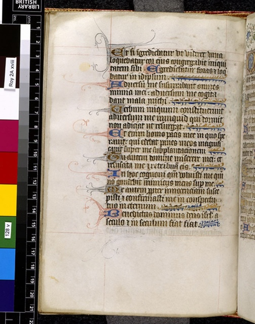 Text page from BL Royal 2 A XVIII, f. 128v