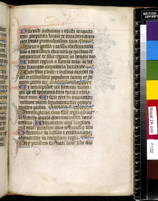 Text page from BL Royal 2 A XVIII, f. 132