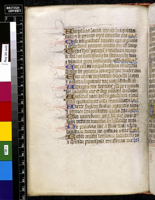 Text page from BL Royal 2 A XVIII, f. 136v