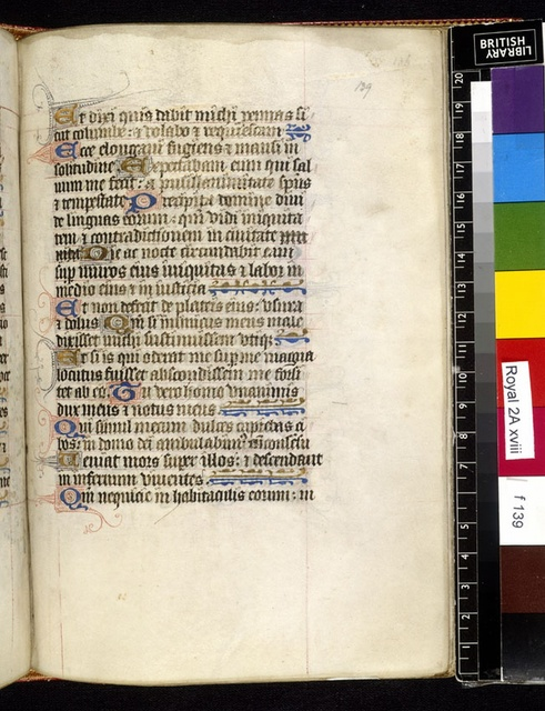 Text page from BL Royal 2 A XVIII, f. 139