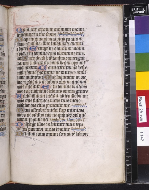 Text page from BL Royal 2 A XVIII, f. 142