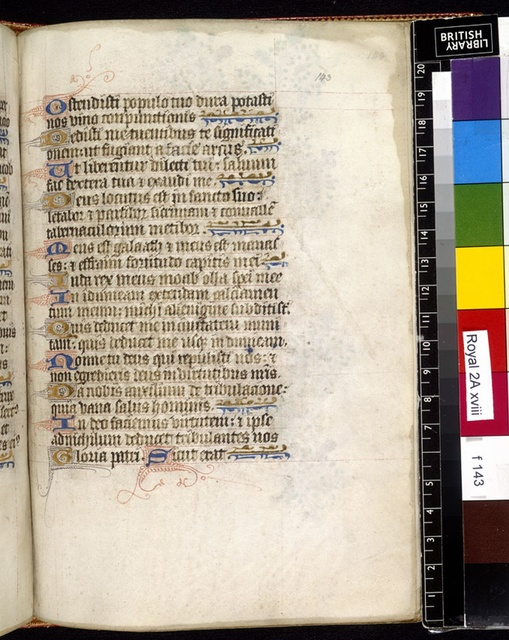 Text page from BL Royal 2 A XVIII, f. 143