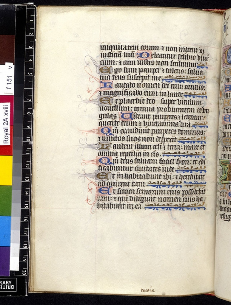 Text page from BL Royal 2 A XVIII, f. 151v