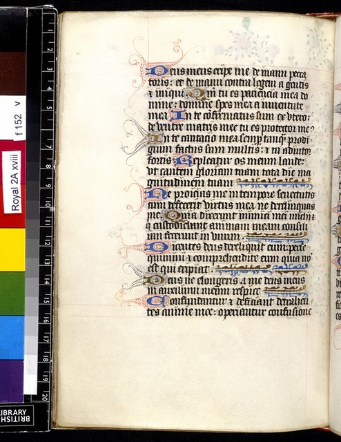 Text page from BL Royal 2 A XVIII, f. 152v