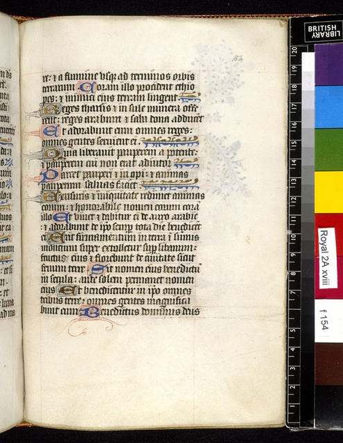 Text page from BL Royal 2 A XVIII, f. 154