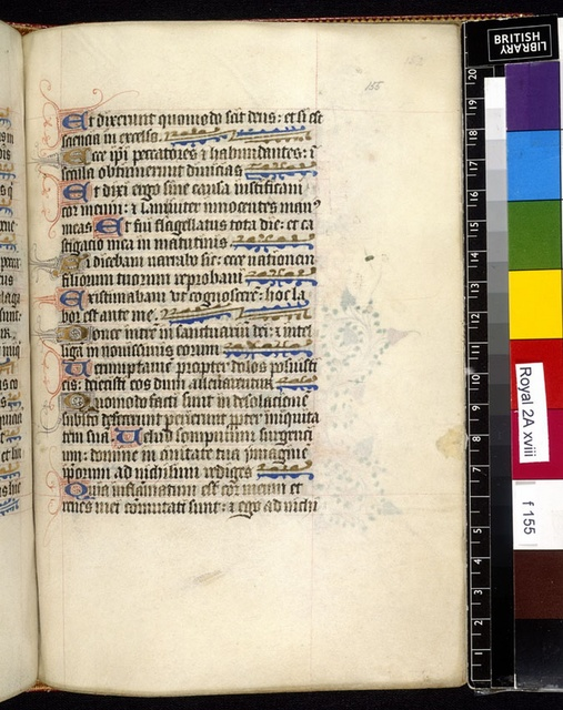 Text page from BL Royal 2 A XVIII, f. 155