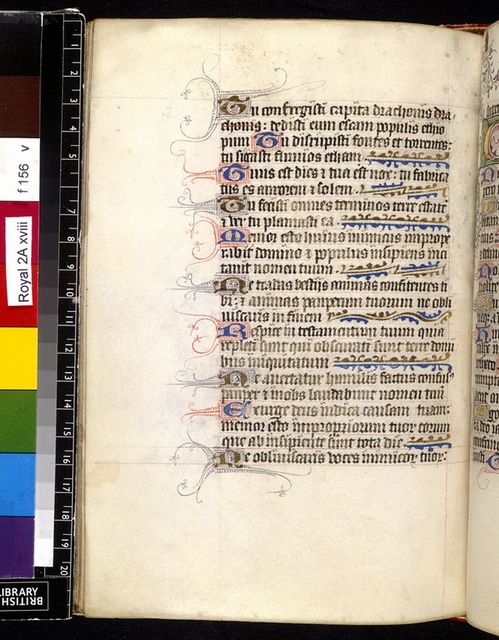 Text page from BL Royal 2 A XVIII, f. 156v