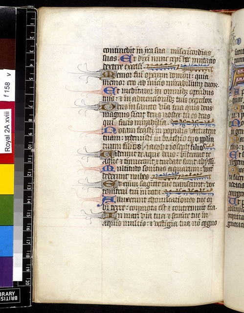 Text page from BL Royal 2 A XVIII, f. 158v