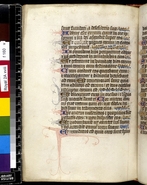 Text page. from BL Royal 2 A XVIII, f. 160v