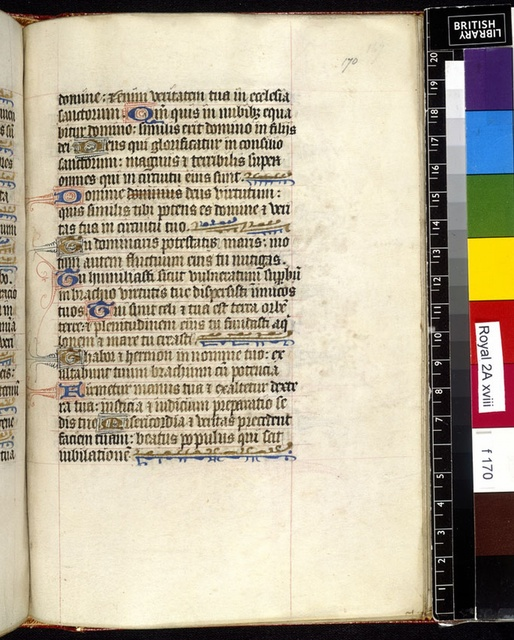 Text page from BL Royal 2 A XVIII, f. 170