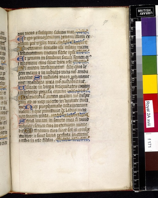 Text page from BL Royal 2 A XVIII, f. 171