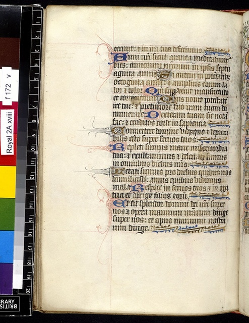 Text page from BL Royal 2 A XVIII, f. 172v
