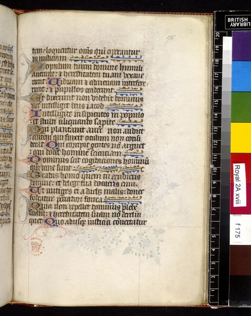 Text page from BL Royal 2 A XVIII, f. 175