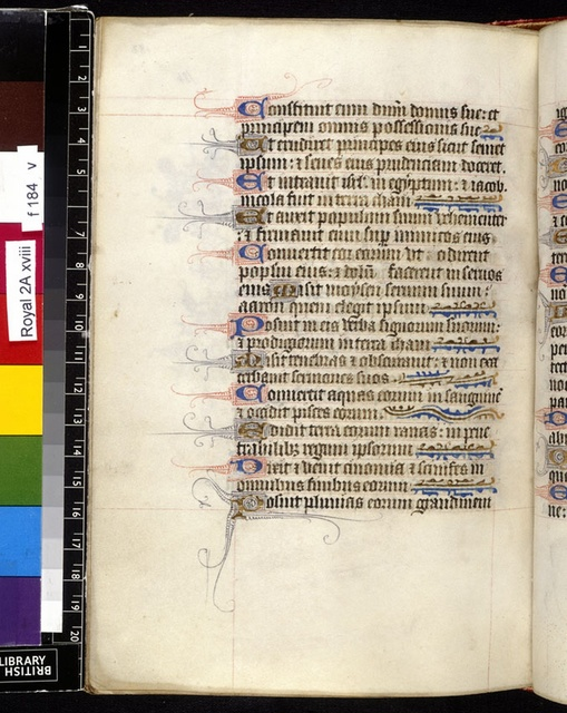 Text page from BL Royal 2 A XVIII, f. 184v