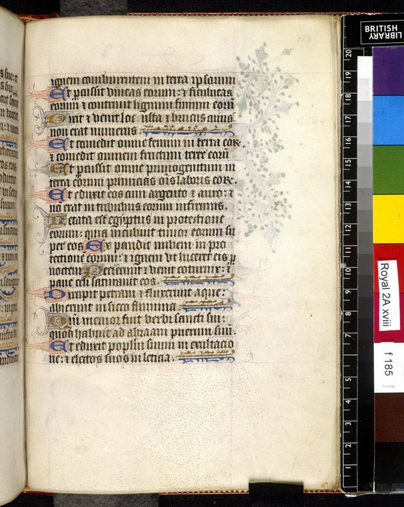 Text page from BL Royal 2 A XVIII, f. 185