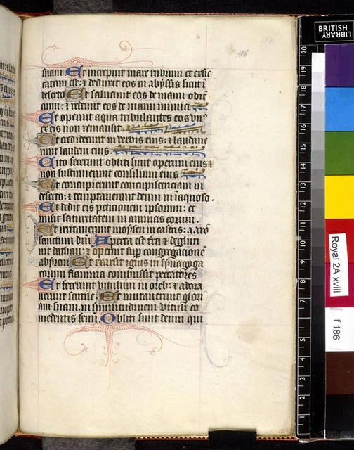 Text page from BL Royal 2 A XVIII, f. 186