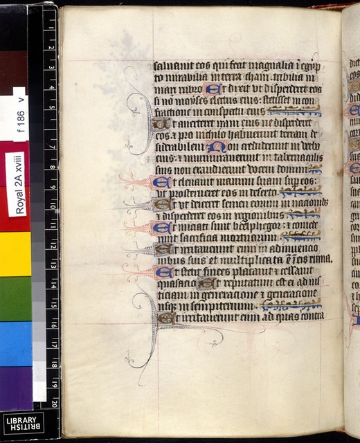 Text page from BL Royal 2 A XVIII, f. 186v