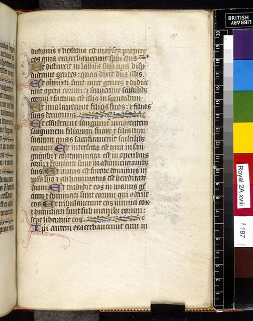 Text page from BL Royal 2 A XVIII, f. 187