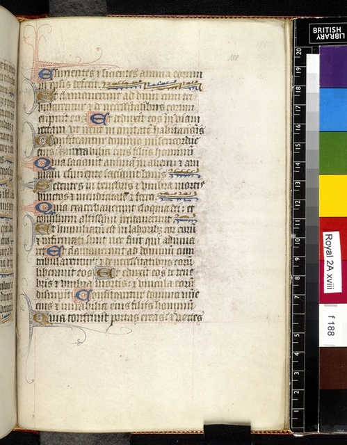Text page from BL Royal 2 A XVIII, f. 188