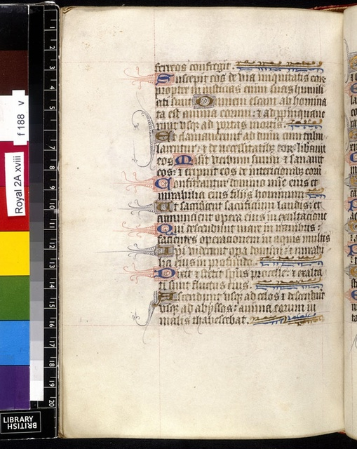 Text page from BL Royal 2 A XVIII, f. 188v