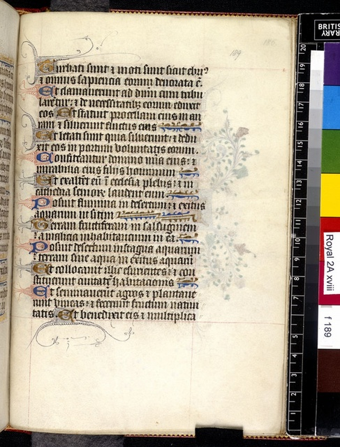 Text page from BL Royal 2 A XVIII, f. 189