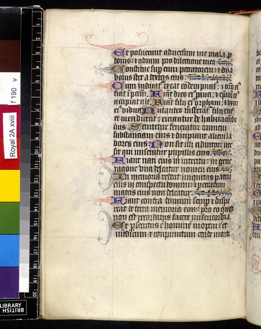 Text page from BL Royal 2 A XVIII, f. 190v