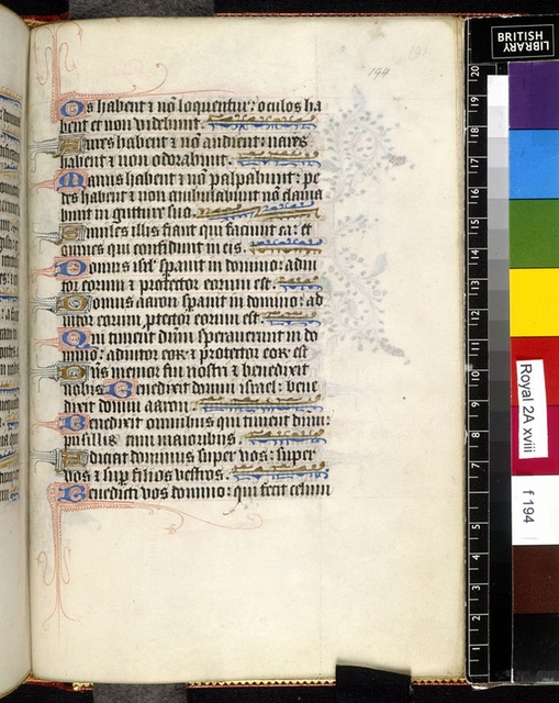 Text page from BL Royal 2 A XVIII, f. 194